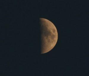 Mond am 01. Mai 2009