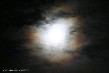 Mondkranz am 20.12.2010