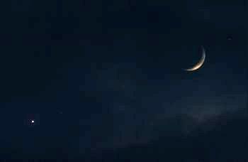 Mond und Venus am 31.12.2008